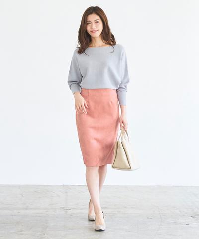 秋冬シーズンに押さえておきたい、フェイクスエードタイトスカート